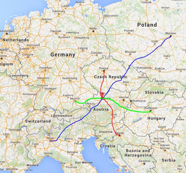 Linz, Austria Map